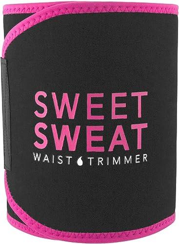Sweet Sweat Waist Trimmer (Pink) | Premium Waist Trainer Belt for Men & Women