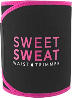 Sports Research Sweet Sweat Premium Waist Trimmer (Pink Logo) for Men & Women ~..