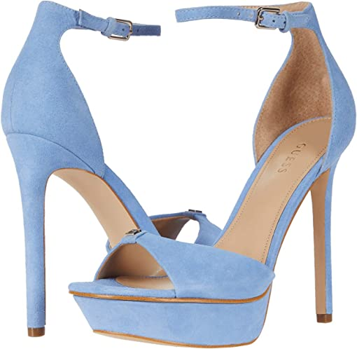 Medium Blue Suede