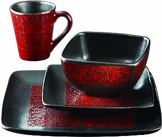 Best american atelier yardley 16 piece dinnerware set red Reviews