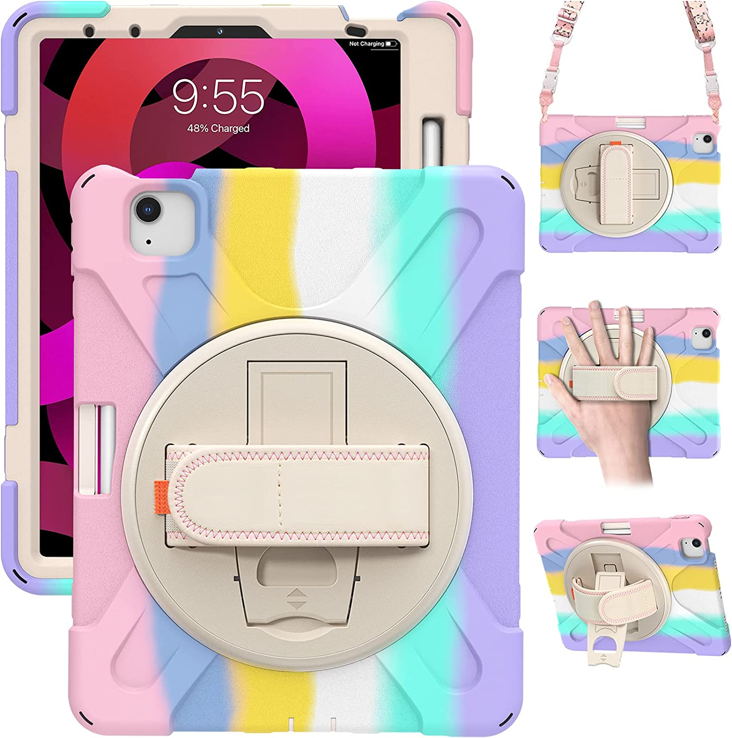 TSQQST iPad Air 4th Generation Case for Kids Girls 2020   iPad Pro 11 Inch Case 2nd Generation 2020/2018 Colorful Cute   iPad Air 4 10.9