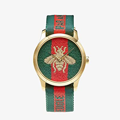 Gucci Nylon Dial with Embroidered Strap with L