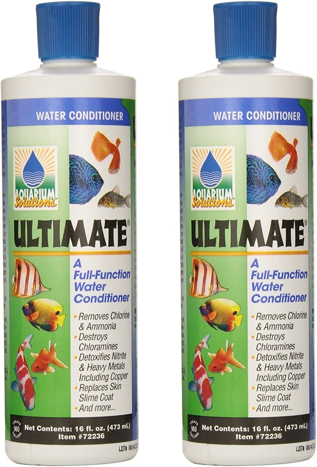 (2 Pack) Hikari USA Ultimate CloramX Water Conditioner for Aquarium, 16Ounce Each