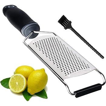 HAUEA Parmesan Käsereibe Edelstahl Küchenreibe Muskat Reibe Zitronenreibe ingwer reibe Schokolade reibe mit Sicherheitsabdeckung