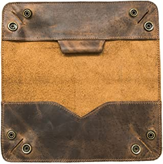 Leather Tray Pencil Case Handmade by Hide & Drink :: Bourbon Brown