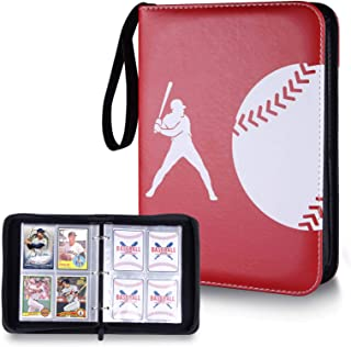 Famard Baseball Card Sleeves Binder, 440 Double Sided Pockets Trading Card Binder with Zipper for Baseball Cards, Baseball...