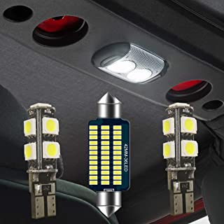 Jeep JK LED Dome Light Ultra Bright Wrangler LED Interior Lights 3pcs Front and Rear Interior Upper Reading Lights for 2007-2018 Jeep JK Wrangler