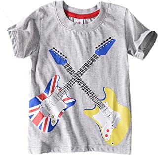 Baby Clothes,Toddler Baby Boys Girls Rock Roll Musical Guitar Print Short Sleeve T-Shirt Tees Tops