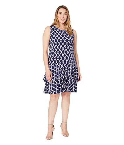 MICHAEL Michael Kors Plus Size Diamond Sleeveless Flounce Dress (Dark Lavender) Women