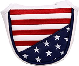 USA Stars and Stripes Magnetic Closure Golf Mallet Putter Head Cover for Odyssey Scotty Cameron Golf Builder