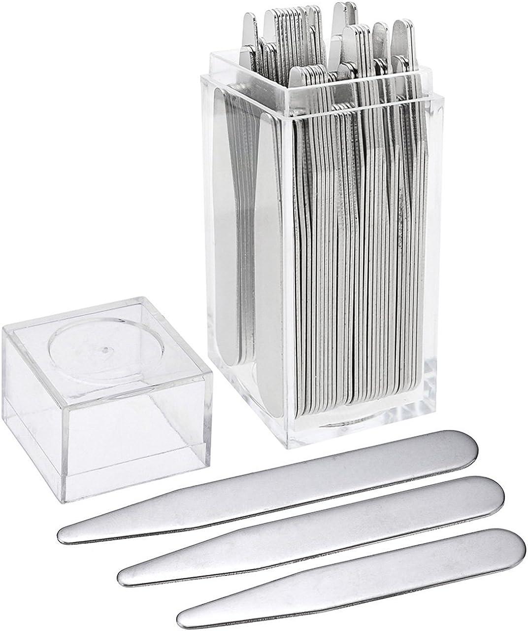 PiercingJ – Lote de 40/36 unidades de ballenas para cuello de camisa, de metal, varias tallas, en caja