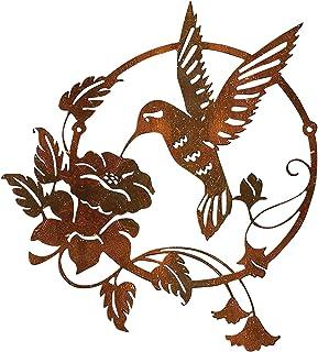 XeonZone Décoration Murale en Métal, Figurine d'oiseau, Art Sculpture Murale 3D Style Vintage Réaliste Sculpture Murale, S...