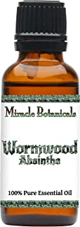 Miracle Botanicals Wormwood (Absinthe) Essential Oil - 100% Pure Artemisia Absinthium - 10ml or 30ml Sizes - Therapeutic Grade - 30ml/1oz.