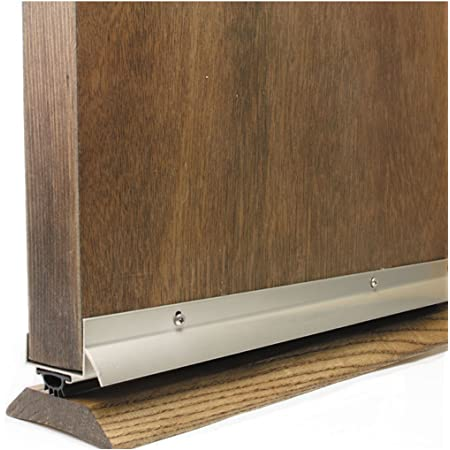 M D Building Products 49000 M D U Shape Door Bottom 36 In L X 1 3 4 In W Vinyl Quot Satin Nickel Door Thresholds