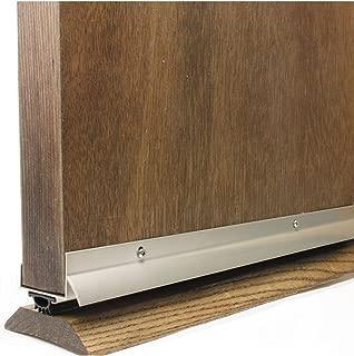 M-D Building Products 49000 M-D U-Shape Door Bottom, 36 in L X 1-3/4 in W, Vinyl, quot, Satin Nickel
