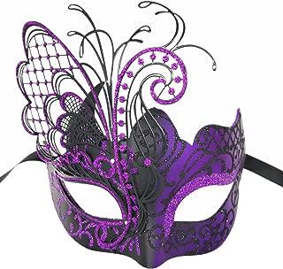 purple and silver mardi gras mask
