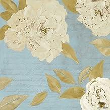 Scripted Poetic Peonies I Poster Print by Lanie Loreth (24 x 24)