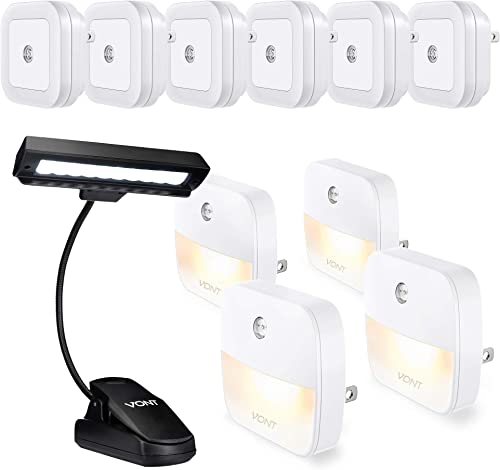 2021 Vont new arrival Night Light 4-Pack + new arrival Night Light 6-Pack + 10-LED Clip Light Bundle - Every Home Must-Have Night Lighting - Ideal Wall Light for Hallways, Stairways, Dark Corners - Best Reading, Studying Light online sale