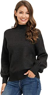 Belle Poque Women Turtleneck Knit Pullover Sweater High Neck Oversize Sweater Top (S-XL)