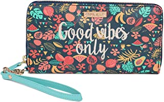 Good Vibes Embroidered Wallet ' Large