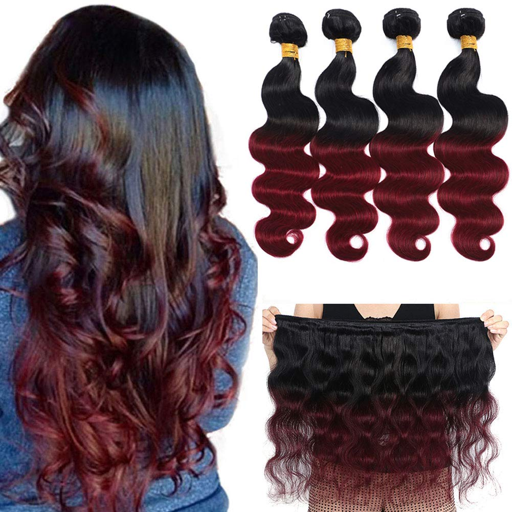 10A Ombre Brazilian Hair Body Free shipping anywhere in the nation Wave T1B Philadelphia Mall 99J 20
