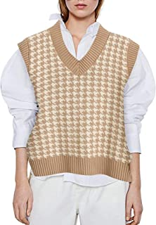 Handmade Knit Sweater Vest Pullover Burgundy Red White Gray Boat Neck Reversible Women/'s Medium READY TO SHIP