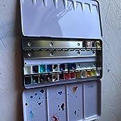 Ynuth vuoto metallo acquerelli in scatola di latta con 12/vuoto met/à padelle per acquerelli 24 pans