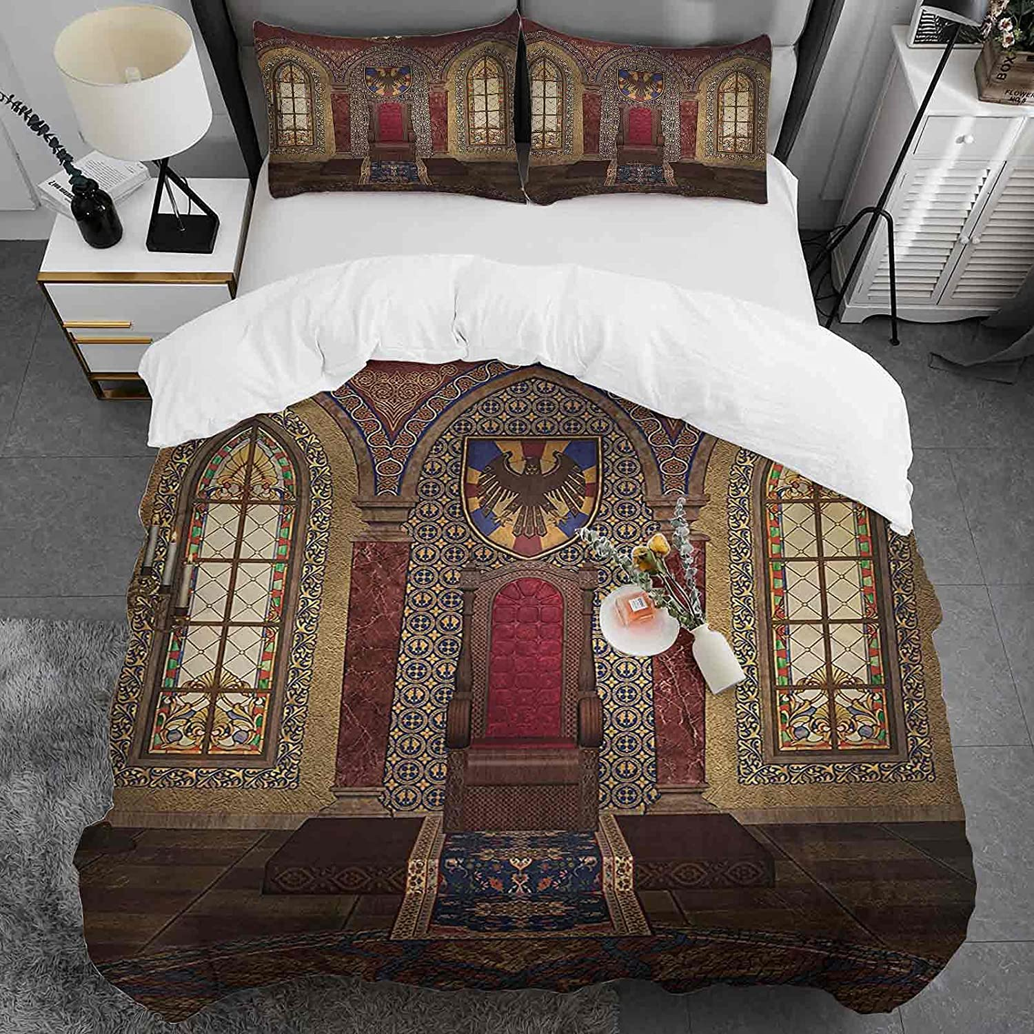 Gothic Duvet Cover Twin Size Red Chapel Outlet ☆ Free Shipping in Topics on TV Medieval Eagl Throne