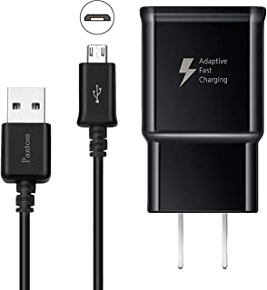 Adaptive Fast Charging Wall Charger with 5-Feet/1.5 Meter Micro USB Cable Kit Set..