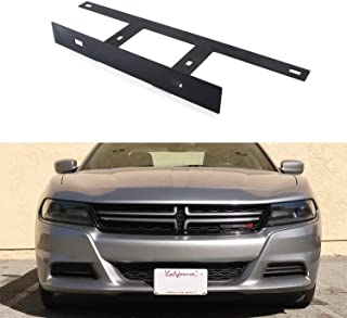 iJDMTOY No Drill Required Front License Plate Mounting Bracket Relocator For 2015-up Dodge Charger