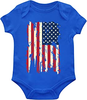 SpiritForged Apparel Distressed USA Flag Infant Bodysuit