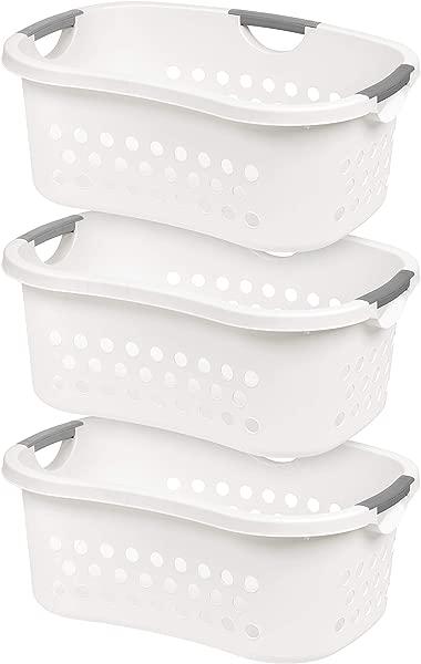 IRIS USA Inc HLB 1 Comfort Carry Laundry Basket 3 White 3 Count