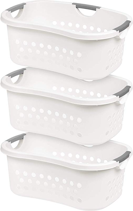 IRIS USA Inc HLB 1 Comfort Carry Laundry Basket 3 White 3 Count