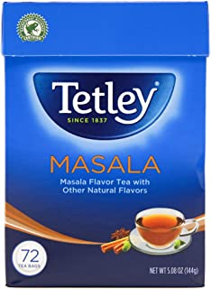 Tetley Tea, Masala, 72-Count Tea Bags (Pack of 3)