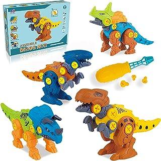Coriver dinozaur zabawki ze śrubokrętem i torbą do przechowywania, weź figurki dinozaura zestawy modelowe DIY konstrukcja ...