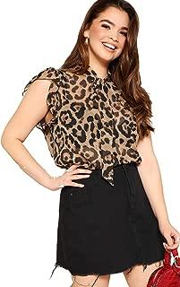 Best leopard sleeveless blouse Reviews