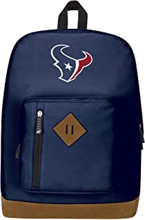 """Officially Licensed NFL Houston Texans """"Playbook"""" Backpack, Blue, 18"""" x 5"""" x 13"""""""