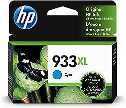 HP 933XL | Ink Cartridge | Cyan | Works with HP OfficeJet 6100, 6600, 6700, 7110, 7510, 7600 Series | CN054AN
