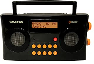 Sangean HDR-16 HD Radio/FM-Stereo/AM Portable Radio (Special Edition Gloss Black & Orange)