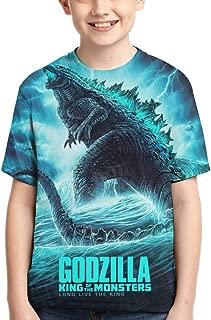 Boys Girls Godzilla 2 King of Monsters 3D Printed Short Sleeves T Shirt Fashion Youth Tee Shirts
