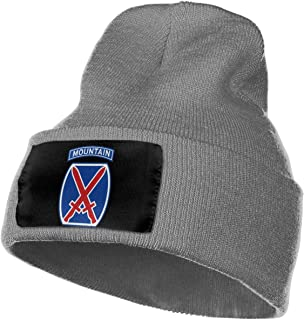 JSHG JDJG Unisex Knitted Hat Fashion Skull Cap Knitting Hats - 10th Mountain Division