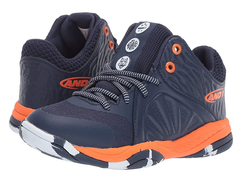 AND1 Kids Attack Mid (Little Kid/Big Kid) (Medieval Blue/Golden Poppy/Marble) Boys Shoes
