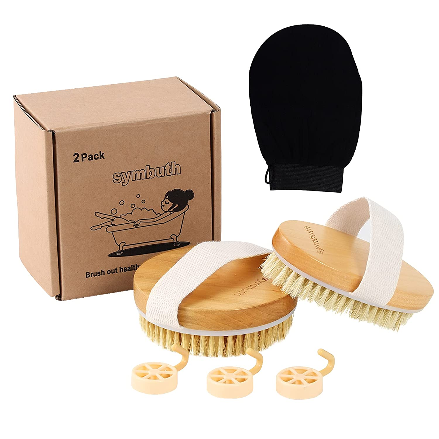 Sales results No. 1 Symbuth Dry Deluxe Brush Wet Body Brushing or Scrubber