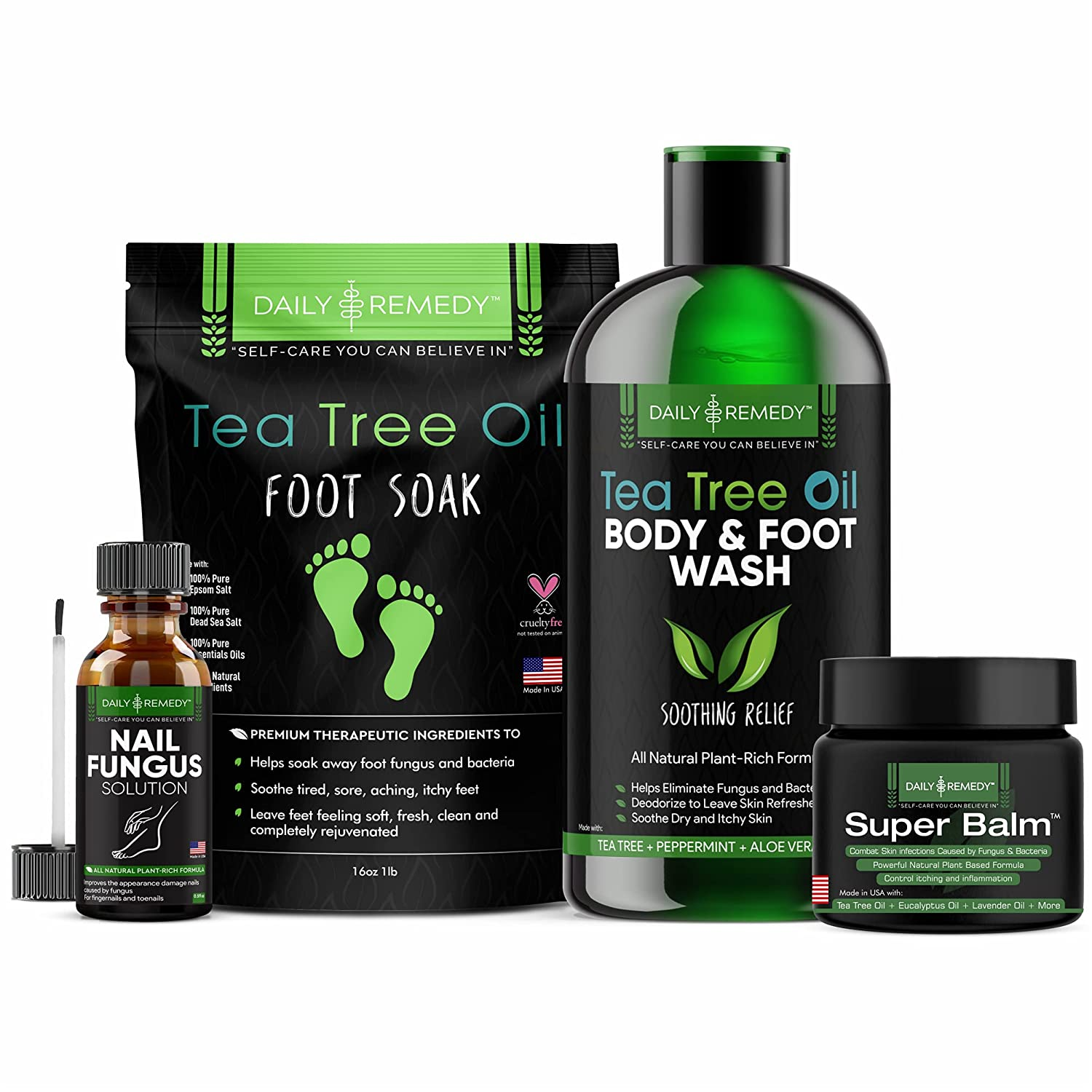 4 in 1 Tea Tree Oil Time Sale special price sale Foot Soak Superbalm a Nail Solution Fungus