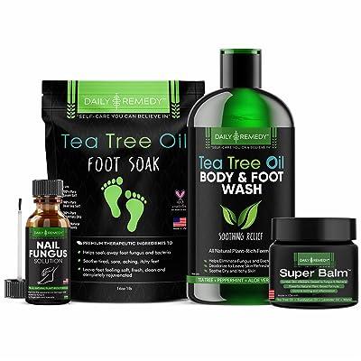 Daily Remedy Tea Tree Oil Foot Soak, Superbalm, Nail Fungus Solution