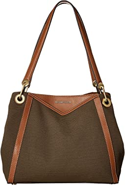 d9cc6202052c43 Michael michael kors raven large shoulder tote | Shipped Free at Zappos