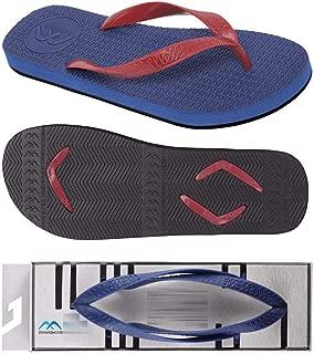 Boomerangz Regular Fit Flip Flops (Men's) Colour: Navy/Black + Interchangeable Straps (Additional) [Combo Offer]