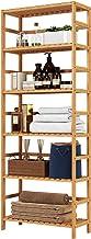 HOMFA Bamboo Shelf 6 Tier, 63.4 Inches Height Free Standing Bookshelf Plant Flower Stand Rack Bathroom Storage Tower, Mult...