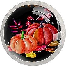 Lade handgrepen trekken ronde kristallen glazen kast knoppen keuken kast handvat,Herfst zegeningen
