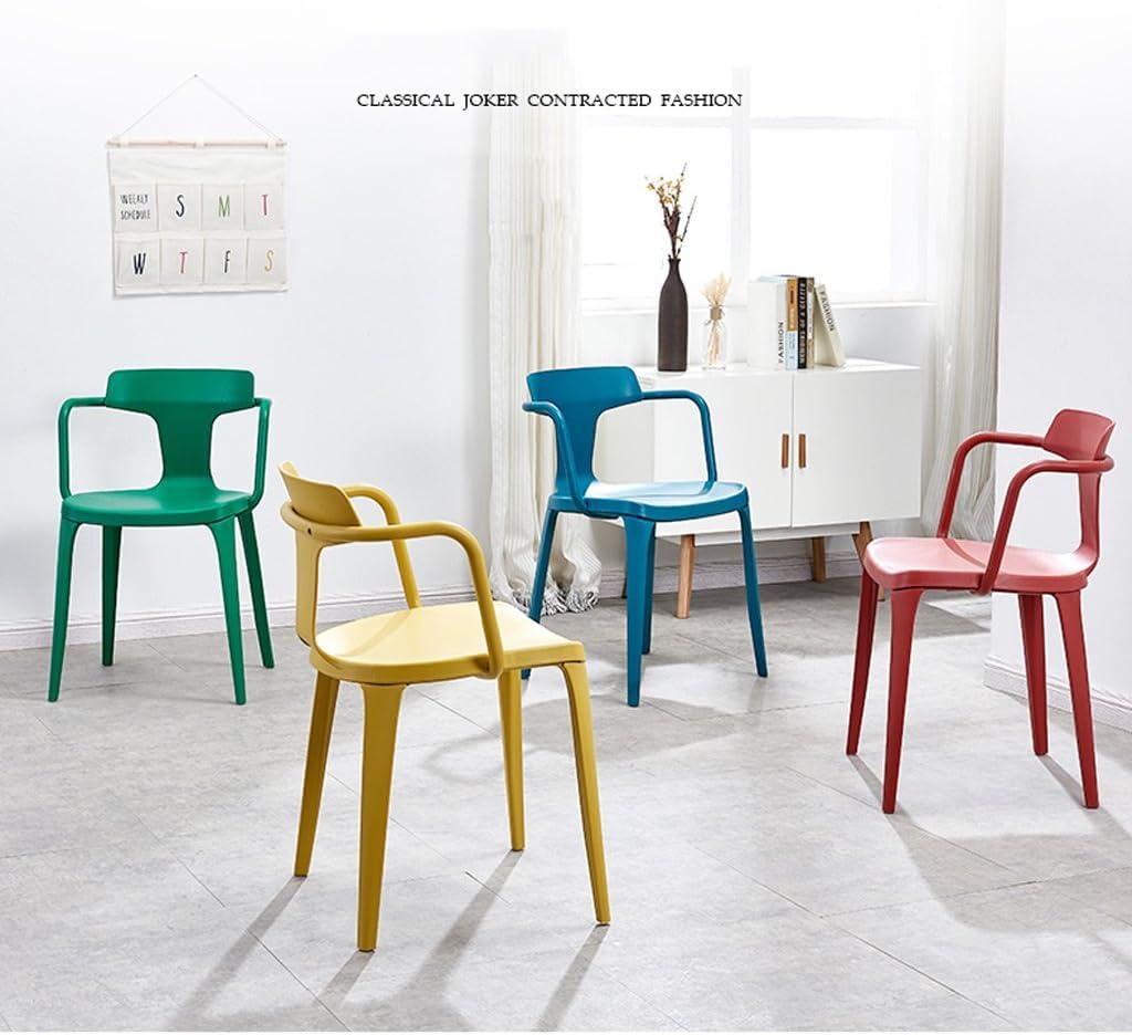 HURONG168 Chaises de cuisine Chaise de loisirs nordique restaurant chaise paresseux blanc mode bureau bureau chaise chaise arrière siège lounge (Couleur : Rouge) Vert